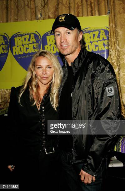 Actress Leslie Ash and her husband former footballer Lee Chapman arrive at the Ibiza Rocks with Sony Ericsson launch party at The Lock Tavern Camden...