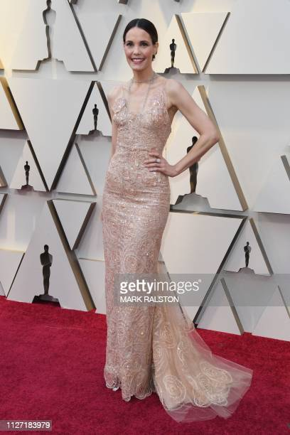 US actress Leslie Bibb arrives for the 91st Annual Academy Awards at the Dolby Theatre in Hollywood California on February 24 2019