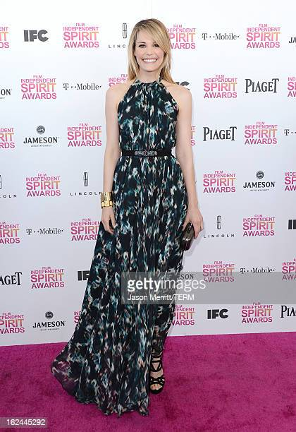 Actress Leslie Bibb attends the 2013 Film Independent Spirit Awards at Santa Monica Beach on February 23 2013 in Santa Monica California
