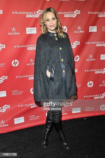 Actress Leslie Bibb attends the 'Hell Baby' premiere at Library Center Theater during the 2013 Sundance Film Festival on January 20 2013 in Park City...