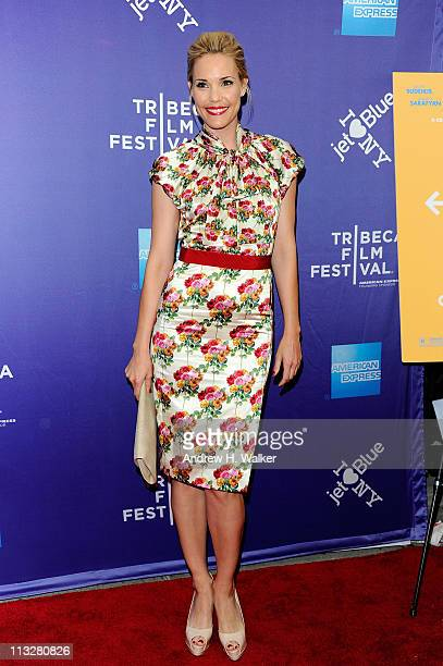 Actress Leslie Bibb attends the premiere of A Good Old Fashioned Orgy during the 2011 Tribeca Film Festival at SVA Theater on April 29 2011 in New...