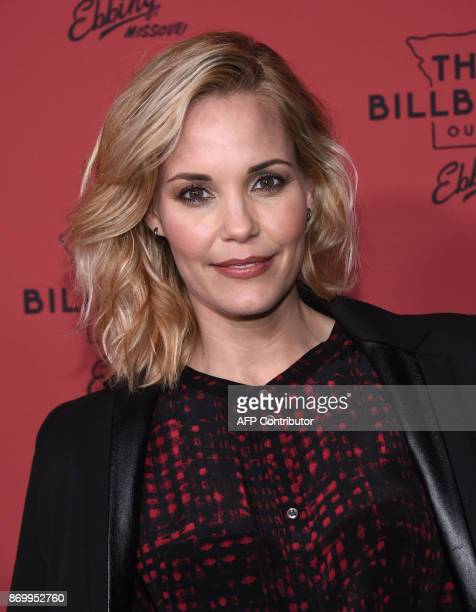 Actress Leslie Bibb attends the premiere of Three Billboards Outside Ebbing Missouri at Neuehouse Hollywood in Los Angeles on November 3 2017 / AFP...