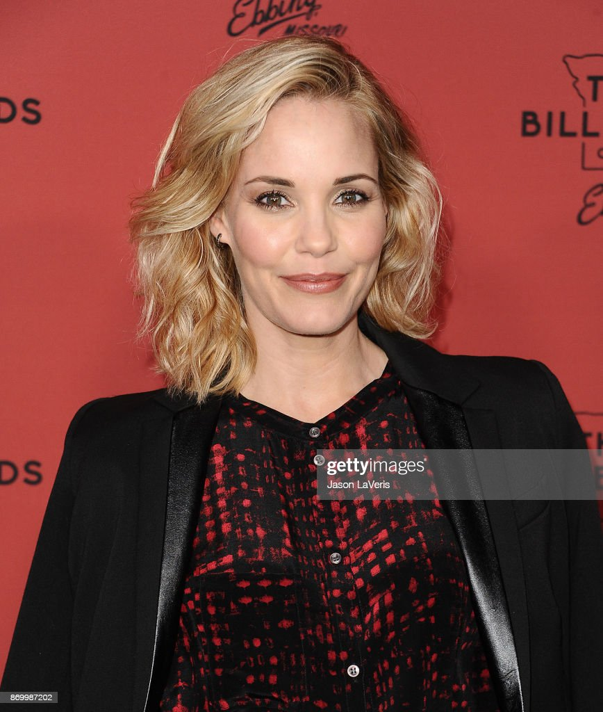 Actress Leslie Bibb attends the premiere of 'Three Billboards Outside Ebbing, Missouri' at NeueHouse Hollywood on November 3, 2017 in Los Angeles, California.
