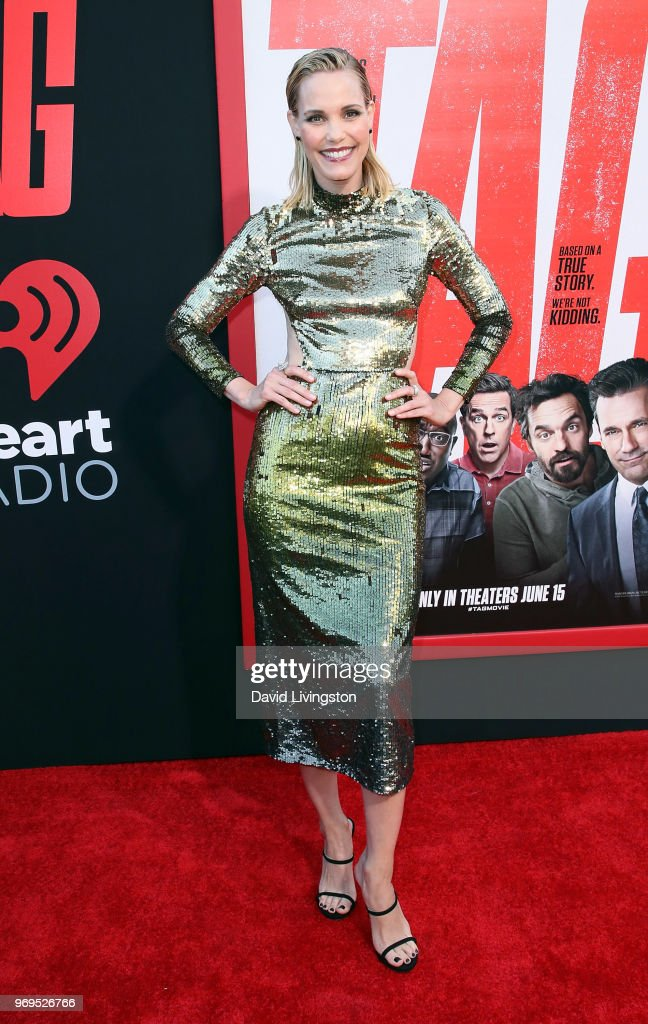 Actress Leslie Bibb attends the premiere of Warner Bros. Pictures and New Line Cinema's 'Tag' at Regency Village Theatre on June 7, 2018 in Westwood, California.