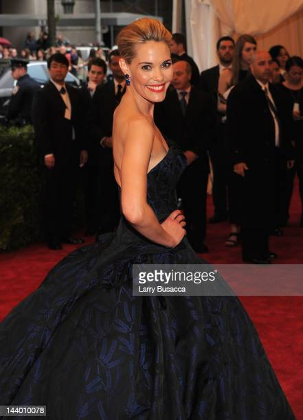 Actress Leslie Bibb attends the Schiaparelli And Prada Impossible Conversations Costume Institute Gala at the Metropolitan Museum of Art on May 7...