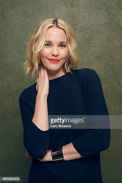 Actress Leslie Bibb of 'Don Verdean' poses for a portrait at the Village at the Lift Presented by McDonald's McCafe during the 2015 Sundance Film...