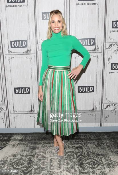 Actress Leslie Bibb visits Build Series to discuss Tagat Build Studio on June 11 2018 in New York City