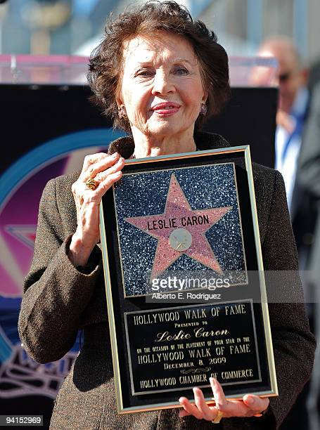 Actress Leslie Caron attends a star ceremony on the Hollywood Walk of Fame honoring actress Leslie Caron on December 8, 2009 in Hollywood, California.