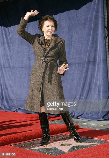 Actress Leslie Caron attends the ceremony honoring her with a star on the Hollywood Walk of Fame on December 8 2009 in Hollywood California