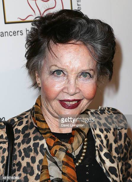Actress Leslie Caron attends the Professional Dancers Society's 27th Annual Gypsy Award Luncheon at The Beverly Hilton Hotel on March 30, 2014 in...