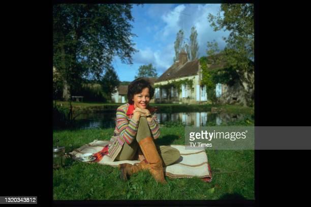Actress Leslie Caron photographed at home, circa 1982.