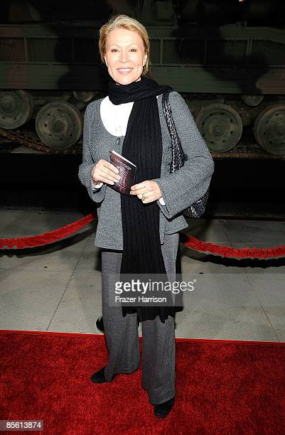 """Actress Leslie Easterbrook arrives at the Premiere Of """"American Identity"""" on March 25, 2009 at the Samuel Goldwyn Theater at the Academy of Motion..."""