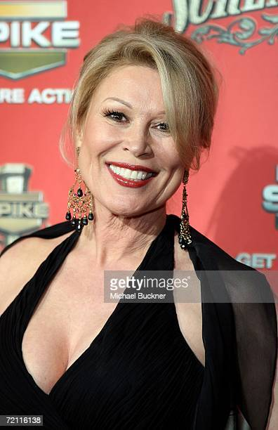 """Actress Leslie Easterbrook arrives to Spike TV's """"Scream Awards 2006"""" at the Pantages Theatre on October 7, 2006 in Los Angeles, California."""