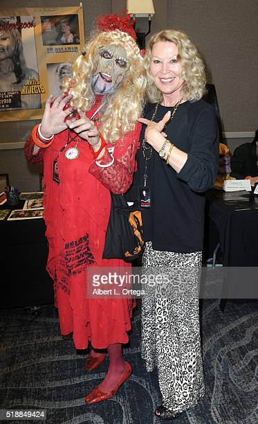 Actress Leslie Easterbrook attends the 2016 Days Of The Dead Convention held at Burbank Airport Marriott on April 2 2016 in Burbank California