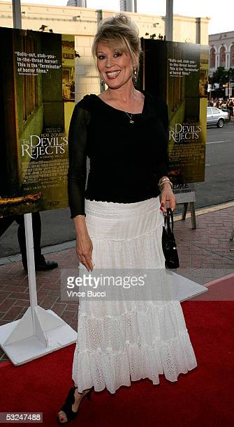 Actress Leslie Easterbrook attends the West Coast premiere of The Devil's Rejects during the annual ComicCon on July 16 2005 in San Diego California