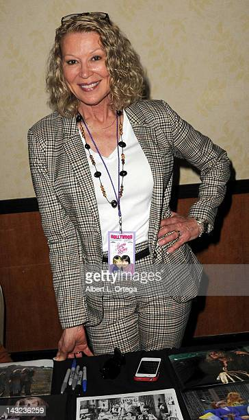Actress Leslie Easterbrook participates in The Hollywood Show held at Burbank Airport Marriott on April 21 2012 in Burbank California