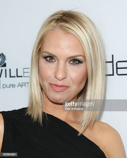 Actress Leslie Grossman attends the Harper's BAZAAR celebration of the new Bravo series 'Dukes of Melrose' at The Terrace at Sunset Tower on February...