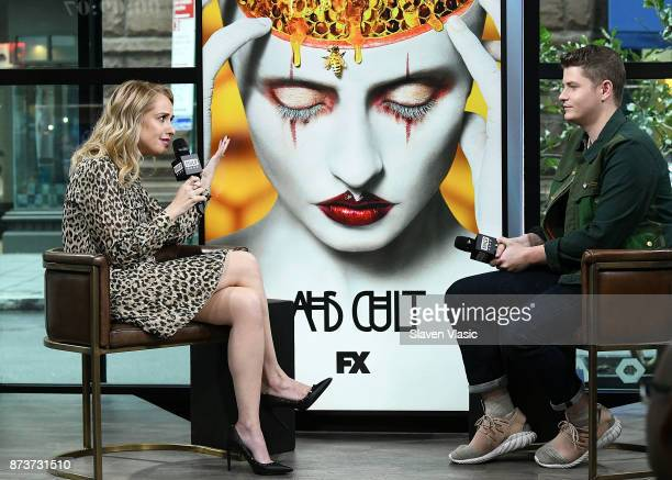 Actress Leslie Grossman visits Build to discuss 'American Horror Story' at Build Studio on November 13 2017 in New York City