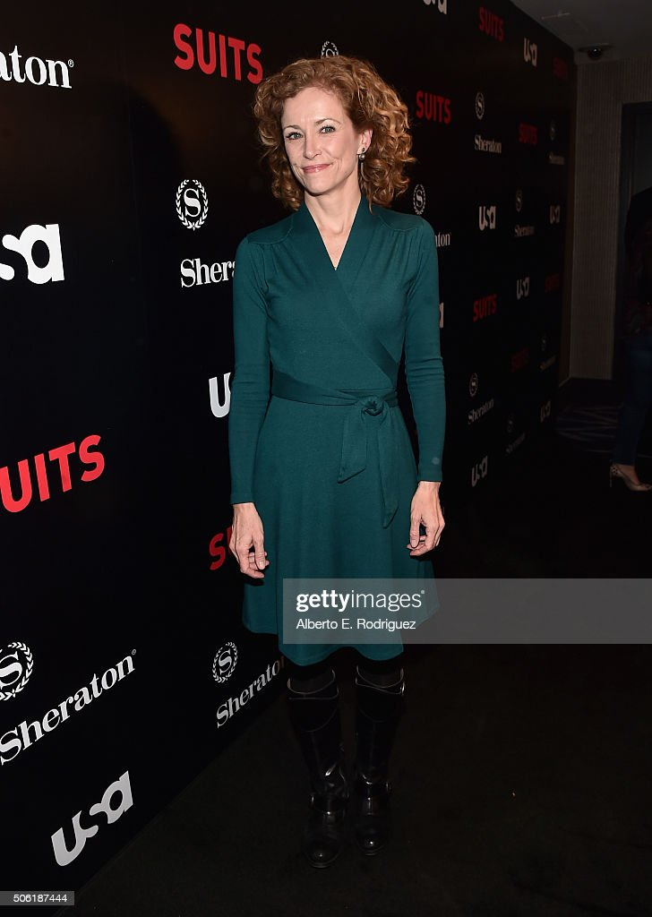Actress Leslie Hope attends the premiere of USA Network's 'Suits' Season 5 at the Sheraton Los Angeles Downtown Hotel on January 21, 2016 in Los Angeles, California.