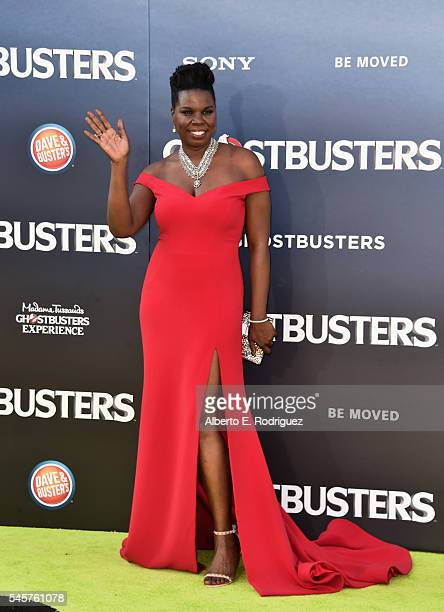 Actress Leslie Jones arrives at the Premiere of Sony Pictures' 'Ghostbusters' at TCL Chinese Theatre on July 9 2016 in Hollywood California