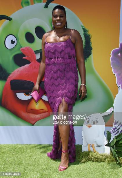 """Actress Leslie Jones arrives for the """"The Angry Birds Movie 2"""" World Premiere at the Regency Village Theatre in Westwood, California, on August 10,..."""