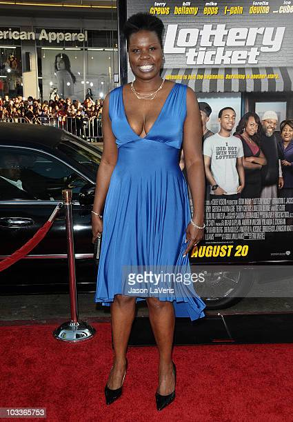 """Actress Leslie Jones attends the premiere of """"Lottery Ticket"""" at Grauman's Chinese Theatre on August 12, 2010 in Hollywood, California."""