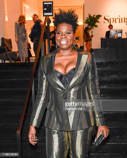 Actress Leslie Jones is seen arriving to the Christian Siriano Fall Winter 2020 NYFW at Spring Studios on February 6, 2020 in New York City.
