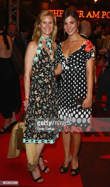 Actress Leslie Malton and actress Aylin Tezel attend the First Steps Awards 2009 at the Theater am Potsdamer Platz on August 25 2009 in Berlin Germany