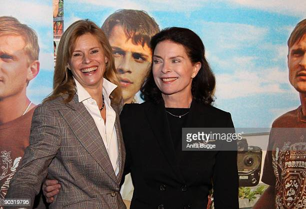 """Actress Leslie Malton and actress Gurdrun Landgrebe attend the """"Waiting for Angelina"""" Germany premiere on January 8, 2009 in Berlin, Germany."""