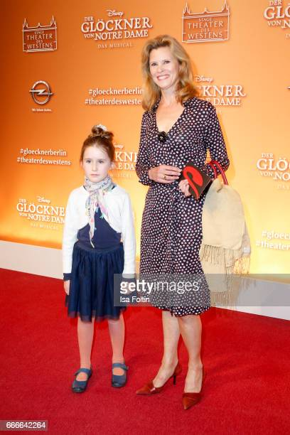 US actress Leslie Malton and her daughter attend the premiere of the musical 'Der Gloeckner von Notre Dame' on April 9 2017 in Berlin Germany