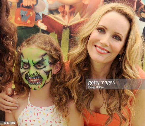 Actress Leslie Mann and daughter Iris Apatow arrive at the Los Angeles premiere of ParaNorman at AMC CityWalk Stadium 19 at Universal Studios...