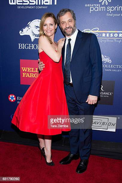 Actress Leslie Mann and director Judd Apatow attend the closing night screening of 'The Comedian' at the 28th Annual Palm Springs International Film...