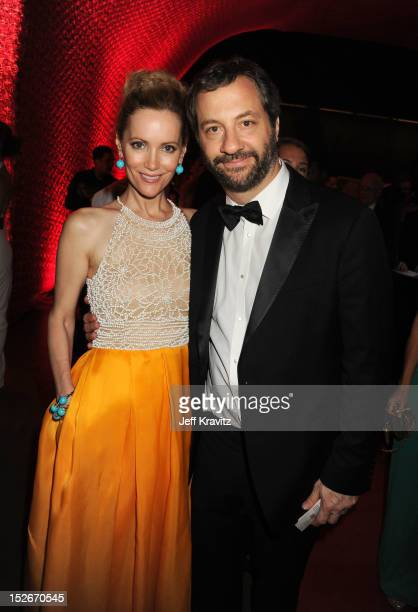 Actress Leslie Mann and director Judd Apatow attends the 64th Primetime Emmy Awards Governors Ball at Los Angeles Convention Center on September 23,...