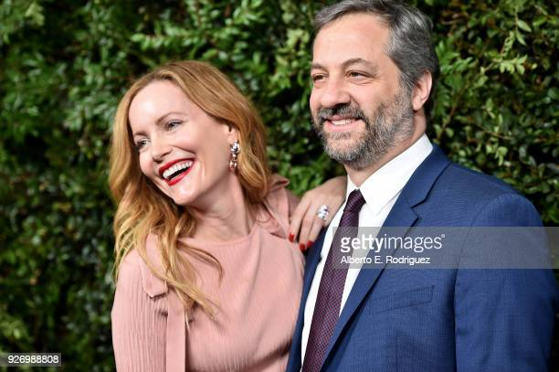 Actress Leslie Mann and producer Judd Apatow attend Charles Finch and Chanel's PreOscar Awards Dinner at Madeo Restaurant on March 3 2018 in Los...