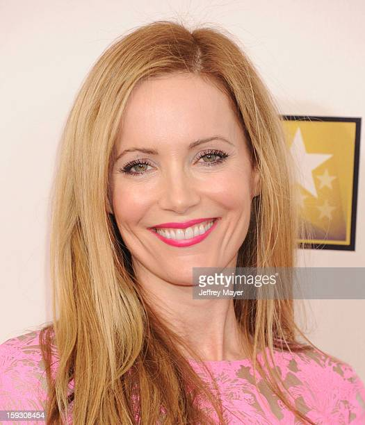 Actress Leslie Mann arrives at the 18th Annual Critics' Choice Movie Awards at The Barker Hangar on January 10 2013 in Santa Monica California