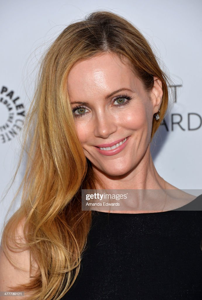 Actress Leslie Mann arrives at the 2014 Paleyfest Icon Award ceremony honoring Judd Apatow at The Paley Center for Media on March 10, 2014 in Beverly Hills, California.