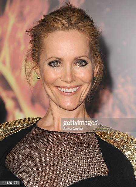 Actress Leslie Mann arrives at The Hunger Games Los Angeles premiere held at Nokia Theatre LA Live on March 12 2012 in Los Angeles United States