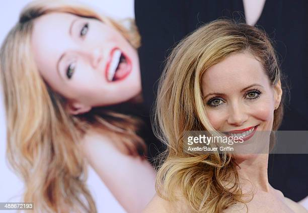 Actress Leslie Mann arrives at the Los Angeles premiere of 'The Other Woman' at Regency Village Theatre on April 21 2014 in Westwood California