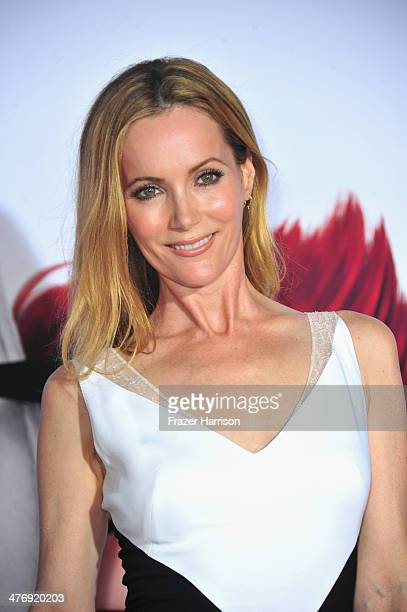 Actress Leslie Mann arrives at the Premiere of Twentieth Century Fox and DreamWorks Animation's Mr Peabody Sherman at Regency Village Theatre on...