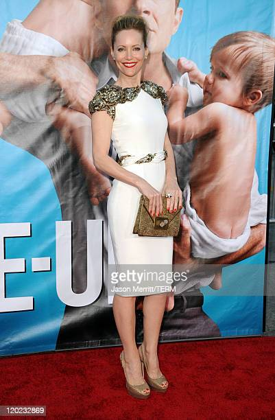 Actress Leslie Mann arrives at the premiere of Universal Pictures' The ChangeUp held at the Regency Village Theatre on August 1 2011 in Los Angeles...