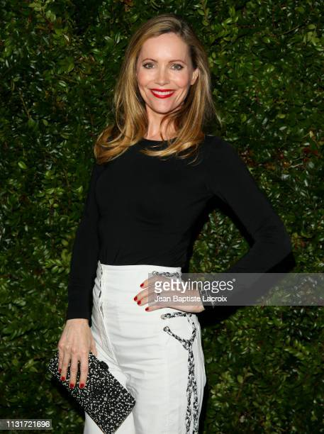 Actress Leslie Mann attends Charles Finch And CHANEL's 11th Annual PreOscar Awards Dinner at Polo Lounge at The Beverly Hills Hotel on February 23...