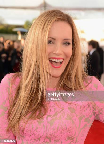 Actress Leslie Mann attends the 18th Annual Critics' Choice Movie Awards at Barker Hangar on January 10 2013 in Santa Monica California