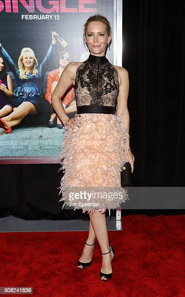 Actress Leslie Mann attends the 'How To Be Single' New York premiere at NYU Skirball Center on February 3 2016 in New York City