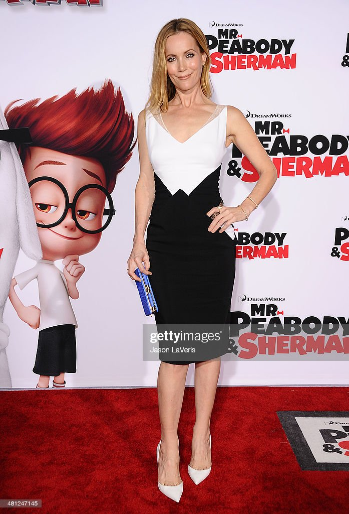 Actress Leslie Mann attends the premiere of 'Mr. Peabody & Sherman' at Regency Village Theatre on March 5, 2014 in Westwood, California.
