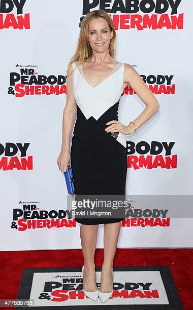Actress Leslie Mann attends the premiere of Twentieth Century Fox and DreamWorks Animation's Mr Peabody Sherman at the Regency Village Theatre on...