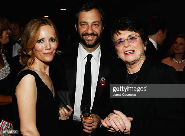 Actress Leslie Mann writer/director Judd Apatow and Billie Jean King attend Time's 100 Most Influential People in the World Gala at the Frederick P...