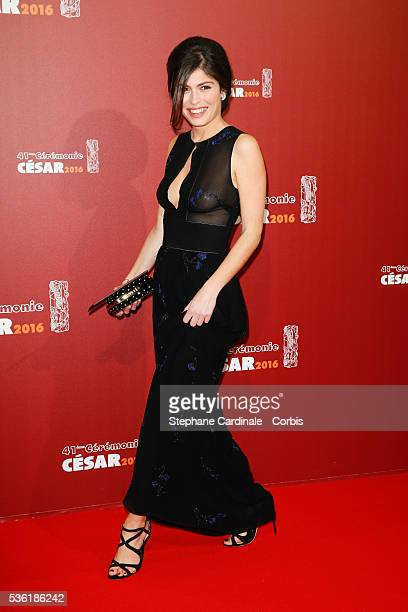 Actress Leslie Medina arrives at the Cesar Film Awards 2016 at Theatre du Chatelet on February 26 2016 in Paris France
