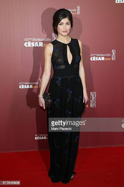 Actress Leslie Medina arrives to attend the 'Cesars Film Awards 2016' ceremony at Theatre du Chatelet on February 26 2016 in Paris France