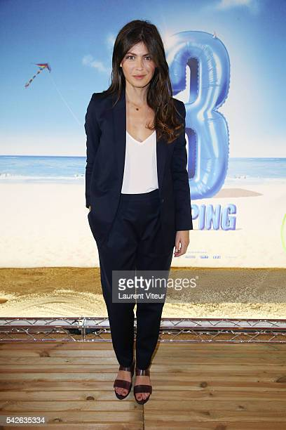 Actress Leslie Medina attends the 'Camping 3' Paris Premiere at Gaumont Champs Elysees on June 23 2016 in Paris France