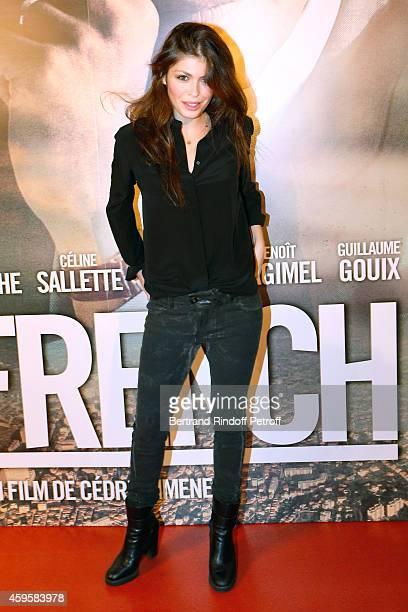Actress Leslie Medina attends the 'La French' Paris Premiere Held at Cinema Gaumont Capucine on November 25 2014 in Paris France